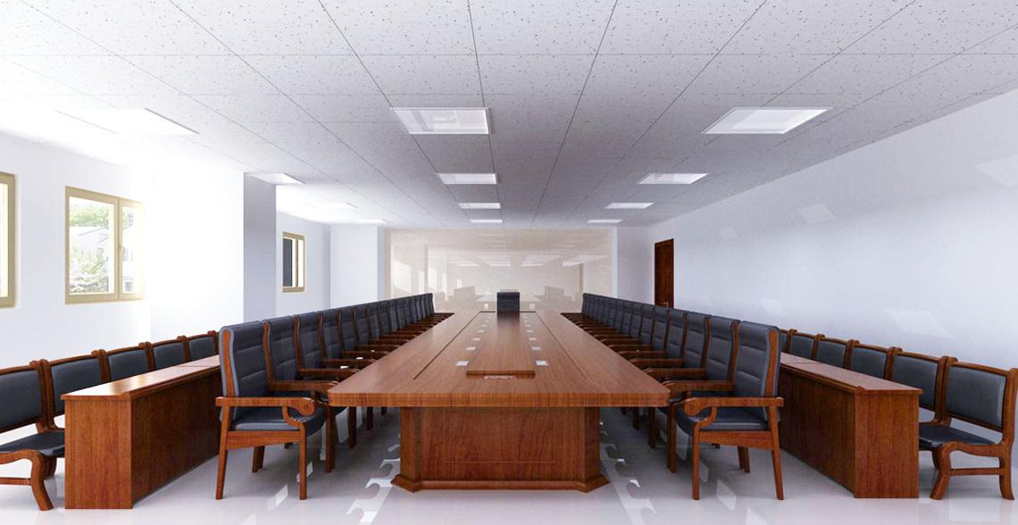 中型企业办公大楼会议室方案设计,智能无纸化会议室音响扩声设备