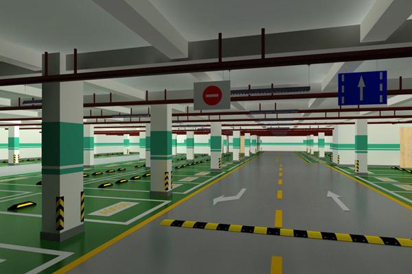 城北经开区电商园地下停车场