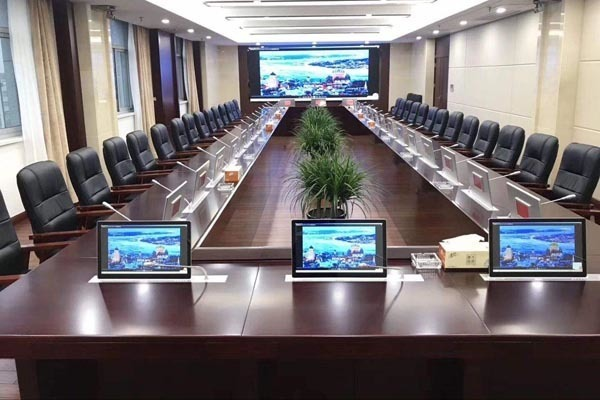 升降智能無紙化會議室交互系統方案